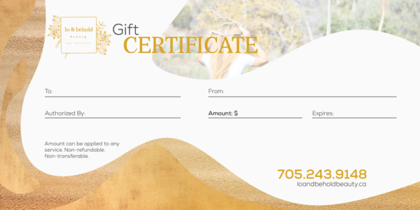 lo & behold gift certificate